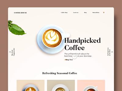 Coffee Landing page Animation coffee adobexd design simple animation website ui ux clean minimal