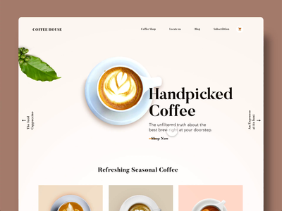 Coffee Landing page Animation