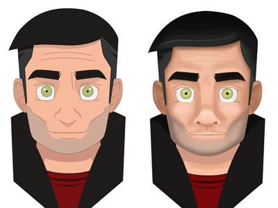Flat VS skeuomorphisme illustration flat skeuomorphisme style photoshop illustrator
