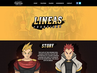 Lineas Frontiers website game iphone android ios puzzle game rpg mangas