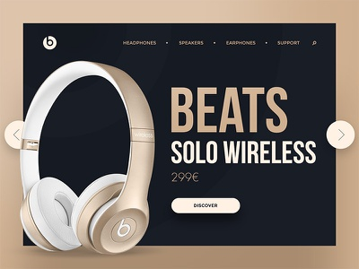 Dailyui 003 Landing Page dailyui ui headphones beats landing page