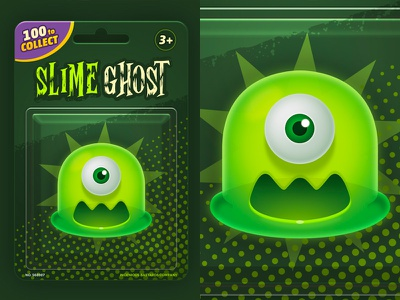 Collect them all gatcha ghost mobile illustration game photoshop