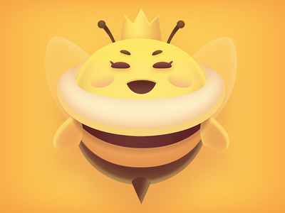 Queen Bee illustration game photoshop