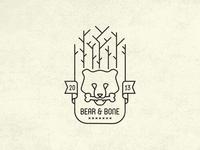 Bear & Bone Vintage Fantasy Logo