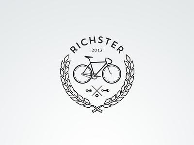 Richster Logo (hipster alert!) logo hipster vintage bike cycle bicycle