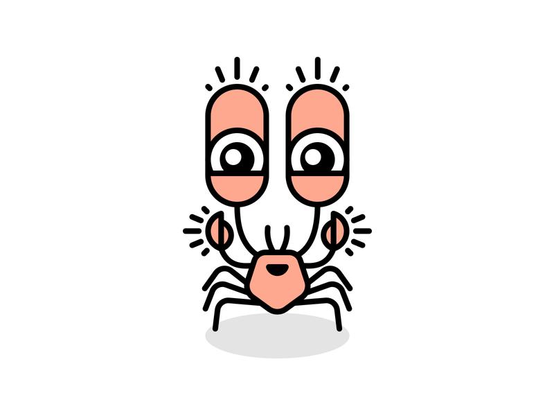 Happy Crab happy illustrator animal illustration crab