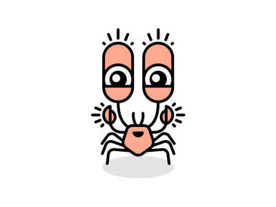 Happy Crab happy illustrator animal illustration crab
