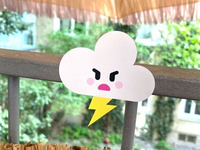 Salty Cloud Magnet magnet illustration salty kawaii cloud