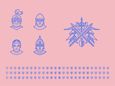 Knight Assets Exploration illustrator outlines chevalier knight