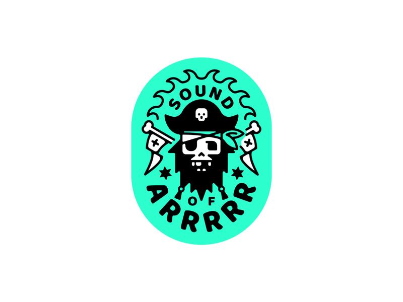 Sound of Arrrrr badge logo arrr pirate illustration