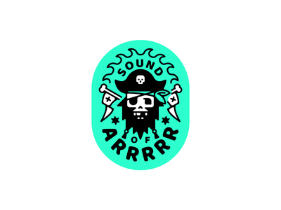Sound of Arrrrr badge logo arrr pirate illustration
