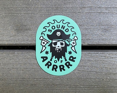 Sound Of Arrrrr - Fridge Magnets illustrator fridgemagnet design illustration pirate