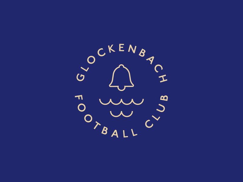 Glockenbach Football Club minimal football logo glockenbach new approach