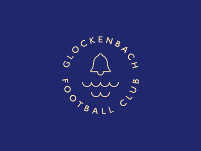 Glockenbach Football Club minimal football logo glockenbach new approach