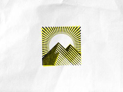 Peaks lineart lines illustrator illustration peaks peak sun mountains