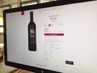 Website for a Wine Dealer - Product Detail