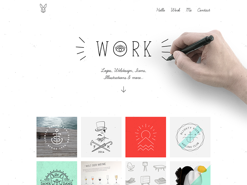 My Personal Homepage by Mathias Temmen on Dribbble