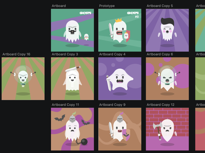 Ghosts - an NFT project to come... flat halloween ghosts illustrator illustrations illustration nft