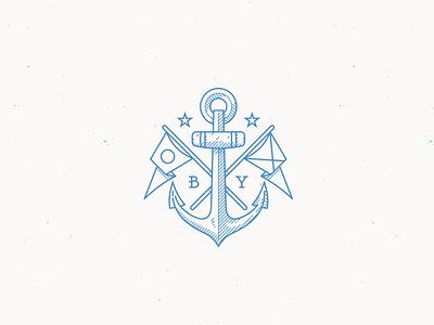 Rejected Anchor Logo anchor logo flags maritime navy