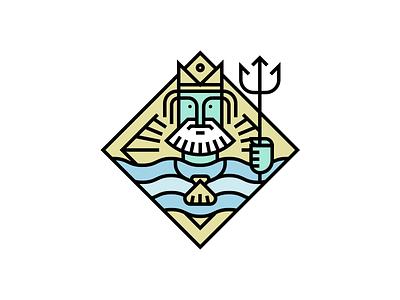 Poseidon sea god neptune water trident waves poseidon