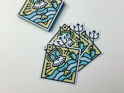Poseidon Fridge Magnets