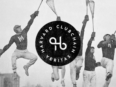 Harvard Clubchain Logo socialmedia vintage badge blockchain university logo harvard