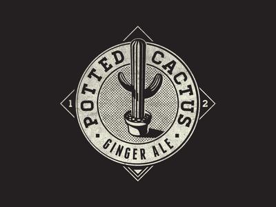 Potted Cactus Ginger Ale Fantasy Logo
