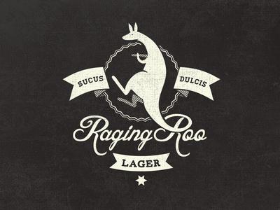 Raging Roo Lager - Fantasy Logo Design