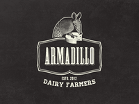 Armadillo Dairy Farmers - Vintage Fantasy Logo