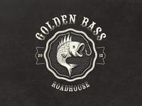 Golden Bass Roadhouse - Fantasy Vintage Logo