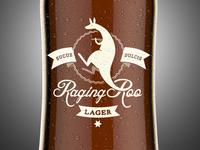Raging Roo Lager - On a bottle
