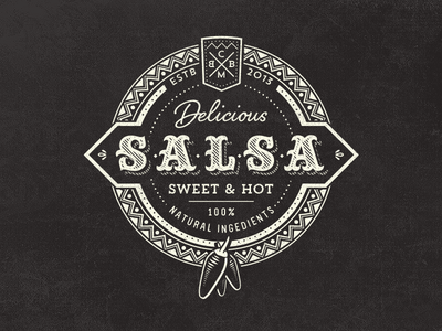 Vintage Salsa Logo By Mathias Temmen Dribbble