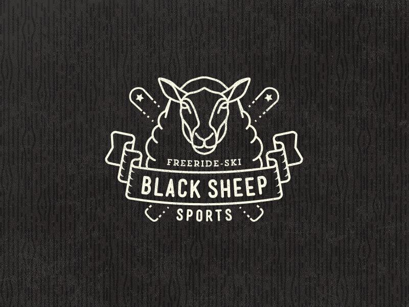 Black Sheep Sports Logo black sheep ski freeride logo badge vintage