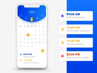 iPhoneX - Calendar page ui design