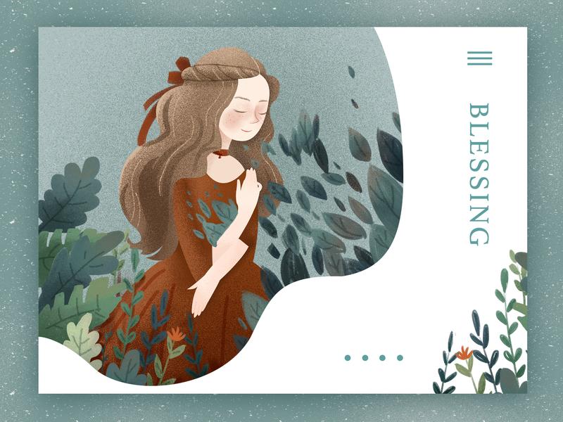 Pray typography landing page peolpe cure gray blessing girl branding app web illustration 设计 插图 design ui