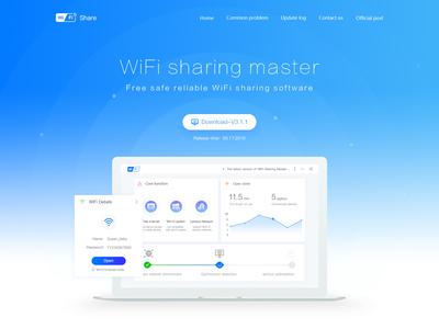 WiFi sharing master-landing page