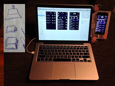 iPhone Holder ios iphone hardware hack sketch mirror