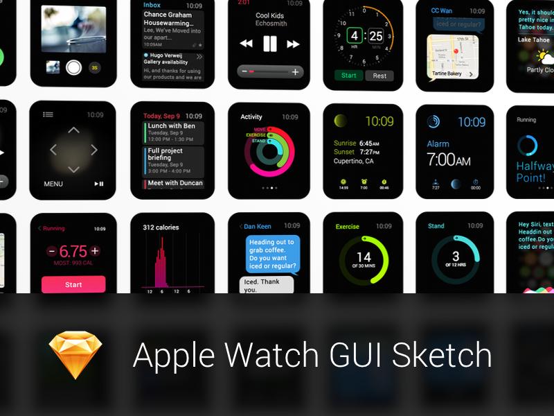Apple Watch GUI Sketch apple watch watch