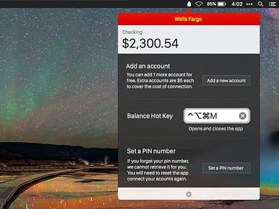 Preferences Drawer mac finance app menubar