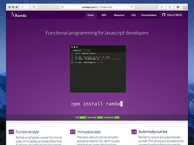 Ramda JS Design ramda open source website