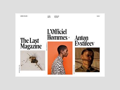 Aímée Sourd — Website Concept fashion webdesign video interface concept modern editorial design clean uiux ux ui photography portfolio web design layout typograph website