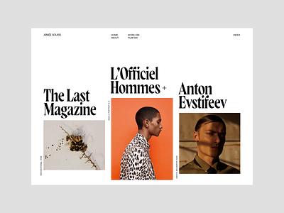 Aímée Sourd — Interactive Exploration portfolio editorial concept photography interaction typography webdesign clean fashion landing wave transition code interactive webgl ux ui web design web layout