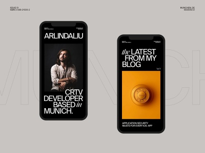 Arlind Aliu — Portfolio 001 design swiss inspiration bold interaction motion ux ui minimal mobile layout typography portfolio