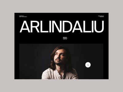 Arlind Aliu - Portfolio 002 branding web design web portfolio typography layout mobile minimal ui ux motion inspiration interaction bold swiss design