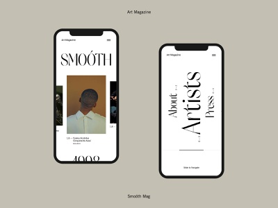 Smoóth Mag — Mobile 001 mobile fashion minimal clean design web design concept web ux ui