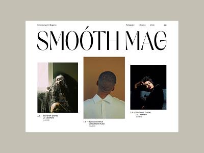 Smoóth Magazine web design ux landing fashion ui webdesign clean minimal layout design photography typogaphy website web