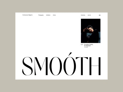 Smoóth Mag — 03 landing art direction ux ui grid whitespace typography website clean magazine photography design layout minimal web design web