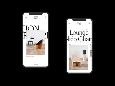 SPACE C69 — Studio website ux web design furniture design typography ui web layout responsive whitespace interior clean mobile
