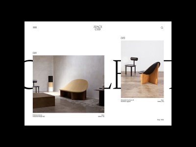 SPACE C69 — Studio 03 clean ui whitespace furniture webdesign interior web layout grid typography design website
