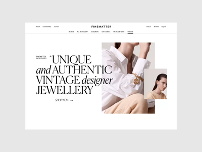 Finematter Website — 06 ecommerce e-comerce ux ui webdesign e-shop fashion jewelry photography jewellery shop store e-commerce clean website whitespace web design web typography layout